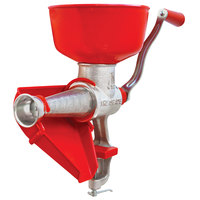 Tre Spade Red Stainless Steel Manual Tomato Squeezer with Plastic Bowl