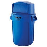 Rubbermaid BRUTE 32 Gallon Blue Trash Can and Dome Top Lid