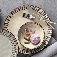World Tableware DULCET-3C Dulcet 14 oz. Cream Stoneware Soup Bowl - 12/Case