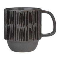 World Tableware AFAR-4G Afar 12 oz. Gray Stoneware Mug - 12/Case