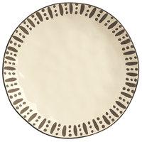 World Tableware DULCET-1C Dulcet 10 5/8 inch Cream Stoneware Dinner Plate - 12/Case