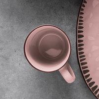 World Tableware DULCET-6P Dulcet 13 oz. Pink Stoneware Mug - 12/Case