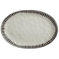 World Tableware DULCET-4G Dulcet 12 5/8 inch x 8 5/8 inch Gray Stoneware Platter - 12/Case