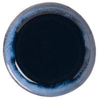 World Tableware STONE-1 Stonewash 6 1/4 inch Deep Blue Stoneware Plate - 12/Case