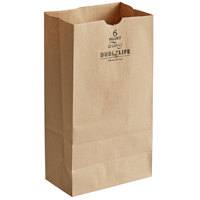 Duro Husky Dubl Life 6 lb. Heavy Duty Brown Paper Bag - 400/Bundle