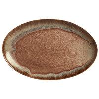 World Tableware HEDON-9 Hedonite 12 inch Porcelain Oval Platter - 12/Case