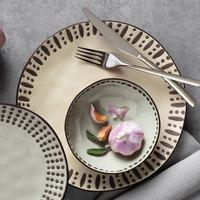 World Tableware DULCET-3G Dulcet 14 oz. Gray Stoneware Soup Bowl - 12/Case