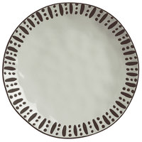 World Tableware DULCET-1G Dulcet 10 5/8 inch Gray Stoneware Dinner Plate - 12/Case