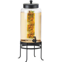 Cal-Mil 1580-3INF-13 3 Gallon Black Soho Glass Beverage Dispenser with Infusion Chamber