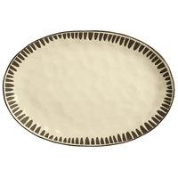 World Tableware DULCET-4C Dulcet 12 5/8 inch x 8 5/8 inch Cream Stoneware Platter - 12/Case