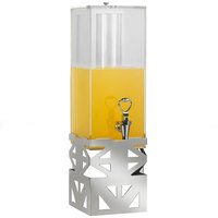 Eastern Tabletop 75172 LeXus 3 Gallon Ridge Stainless Steel Beverage Dispenser with Acrylic Container and Ice Core