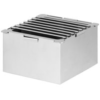 Eastern Tabletop 1541 LeXus 8 inch x 8 inch x 5 inch Solid Stainless Steel Cube with Fuel Shelf and Grate