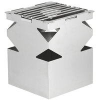 Eastern Tabletop 1542 LeXus 8 inch x 8 inch x 10 inch Solid Stainless Steel Cube with Fuel Shelf and Grate