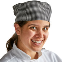 Choice Houndstooth Stripe Mesh Top Chef Skull Cap / Pill Box Hat - Large Size