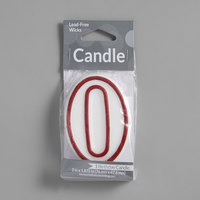 Creative Converting 080183033 3 inch Red Outlined 0 inch Candle