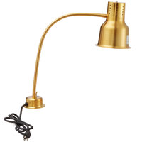 Avantco HL24GD 24 inch Gold Single Arm Bulb Warmer Flexible Heat Lamp - 120V, 250W