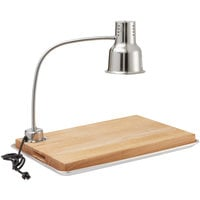 Avantco Carving Station Kit with 24 inch Stainless Steel Heat Lamp, Cutting Board, and Drip Pan- 120V, 250W