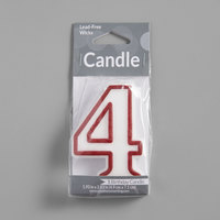 Creative Converting 080145033 3 inch Red Outlined 4 inch Candle