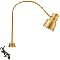 Avantco HL39GD 39 inch Gold Single Arm Bulb Warmer Flexible Heat Lamp - 120V, 250W