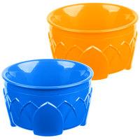 Dinex DX5300412 Fenwick 9 oz. Orange / Blue Insulated Bowl Combo - 48/Case