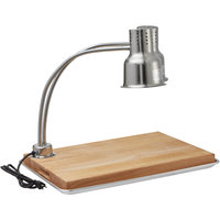 Avantco Carving Station Kit with 24 inch Dual Arm Heat Lamp, Cutting Board, and Drip Pan - 120V, 500W