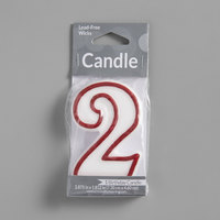 Creative Converting 080098033 3 inch Red Outlined 2 inch Candle