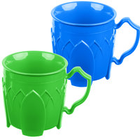 Dinex DX5000413 Fenwick 8 oz. Blue / Green Insulated Mug Combo - 48/Case