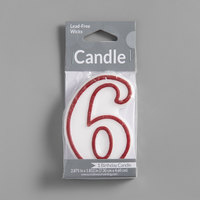 Creative Converting 080157033 3 inch Red Outlined 6 inch Candle