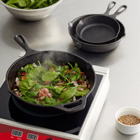 Lodge Pre-Seasoned Round Cast Iron Set with 6 1/2 inch, 8 inch, and 10 1/4 inch Skillets