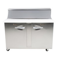 Traulsen UPT4812-LR 48 inch 1 Left Hinged 1 Right Hinged Door Refrigerated Sandwich Prep Table
