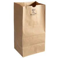 Duro Husky Dubl Life 25 lb. Shorty Heavy Duty Brown Bag - 400/Bundle