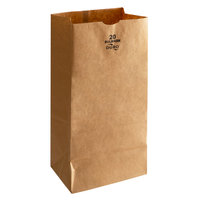Duro Bulwark 20 lb. Extra Heavy Duty Brown Bag - 400/Bundle