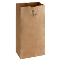 Duro Husky Dubl Life 20 lb. Heavy Duty Brown Bag - 400/Bundle