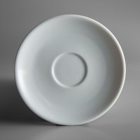 Oneida R4220000505 Royale 4 3/4 inch Bright White Porcelain A.D. Saucer - 36/Case