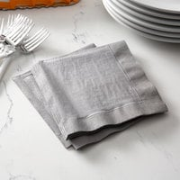 Creative Converting 339641 Glamour Gray 2-Ply 1/4 Fold Luncheon Napkin - 600/Case