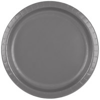 Creative Converting 339646 10 inch Glamour Gray Paper Plate - 240/Case
