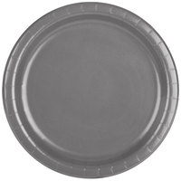 Creative Converting 339639 9 inch Glamour Gray Paper Plate - 240/Case