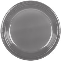 Creative Converting 339659 10 inch Glamour Gray Plastic Plate - 240/Case