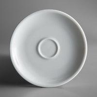 Oneida F1450000505 Classic Coupe 4 7/8 inch White Porcelain Espresso Saucer - 24/Case