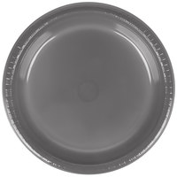 Creative Converting 339658 9 inch Glamour Gray Plastic Plate - 240/Case