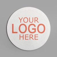 4 inch White Round 40 pt. Customizable Paper Coaster - 1000/Case