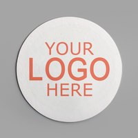 3 1/2 inch White Round 80 pt. Customizable Paper Coaster - 1000/Case