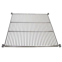 True 919450 Stainless Steel Wire Shelf with Shelf Supports - 25 inch x 28 13/16 inch