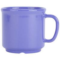 GET S-12-PB Diamond Mardi Gras 12 oz. Peacock Blue SAN Plastic Mug - 24/Case