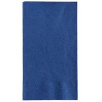 Choice 15 inch x 17 inch Customizable Navy Blue 2-Ply Paper Dinner Napkins - 125/Pack