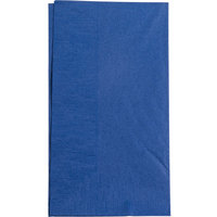 "Navy Blue Paper Dinner Napkin, Choice 2-Ply, 15"" x 17"" - 125/Pack"