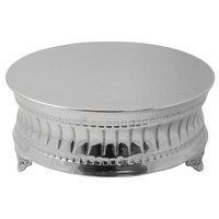 Tabletop Classic AC9119 23 1/2 inch Contemporary Round Nickel-Plated Cake Stand