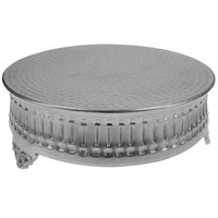 Tabletop Classics by Walco AC9119 23 1/2 inch Contemporary Round Nickel-Plated Cake Stand
