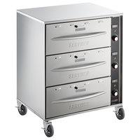 ServIt Mobile Triple Freestanding Drawer Warmer - 1350W, 120V