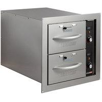 ServIt WDNBI-2 Double Narrow Built-In Drawer Warmer - 900W, 120V